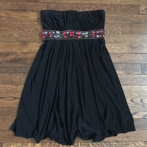 WHBM strapless beaded dress